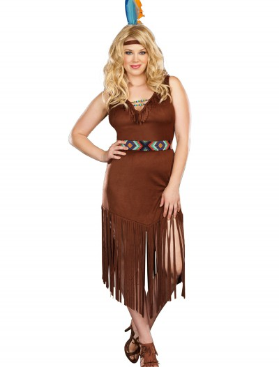 Plus Size Mystic Indian Maiden Costume, halloween costume (Plus Size Mystic Indian Maiden Costume)