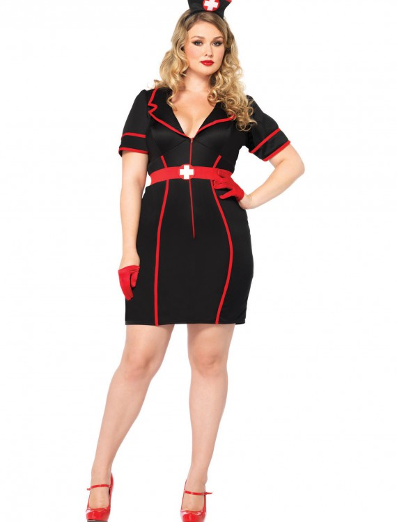 Plus Size Naughty Night Nurse, halloween costume (Plus Size Naughty Night Nurse)