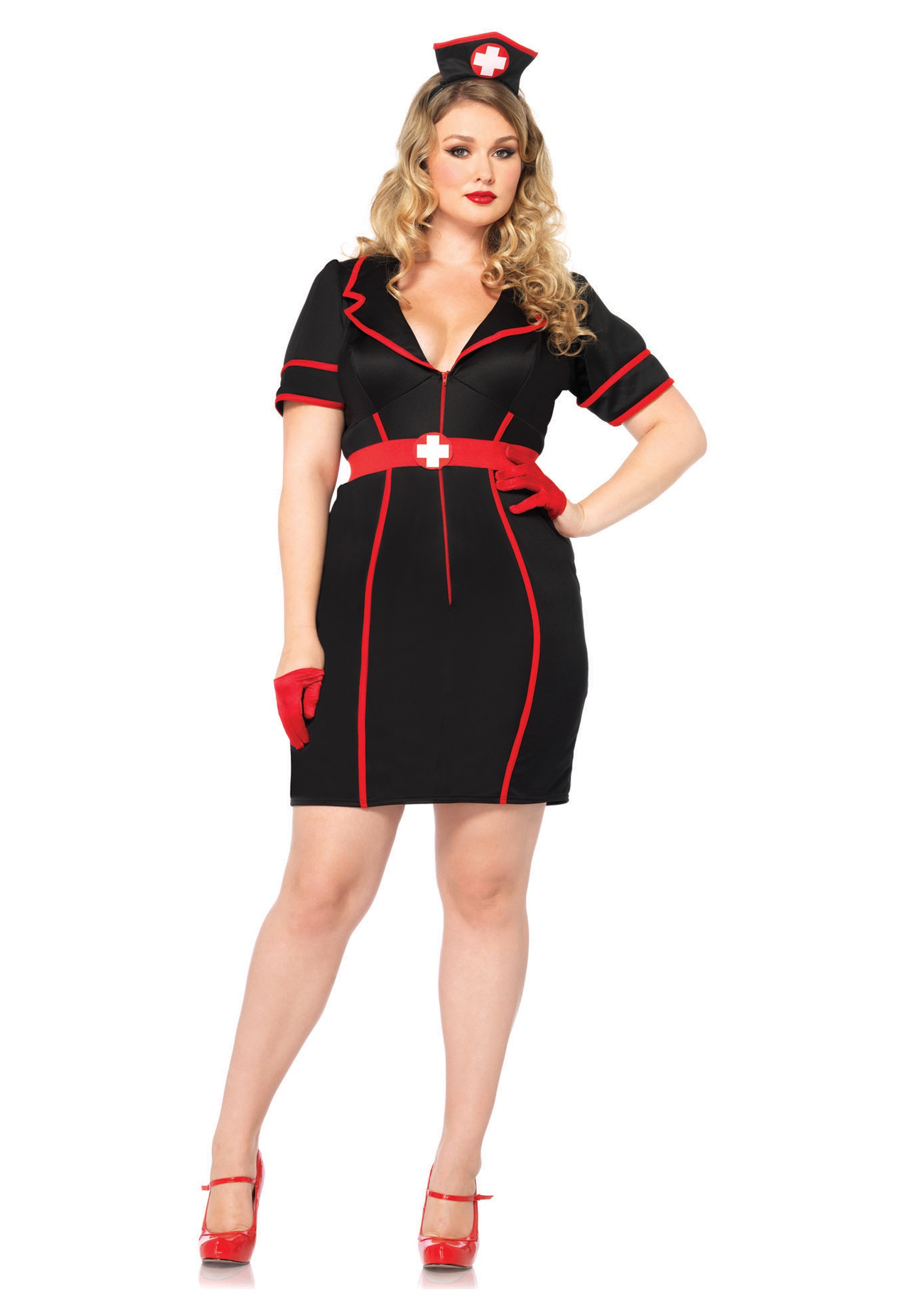plus size naughty night nurse - halloween costumes