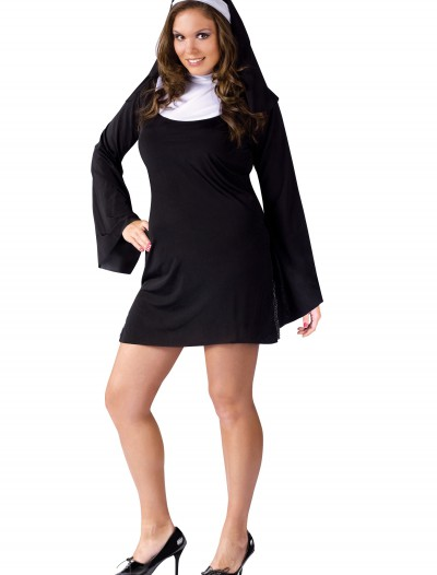 Plus Size Naughty Nun Costume, halloween costume (Plus Size Naughty Nun Costume)