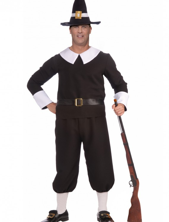 Plus Size Pilgrim Man Costume, halloween costume (Plus Size Pilgrim Man Costume)