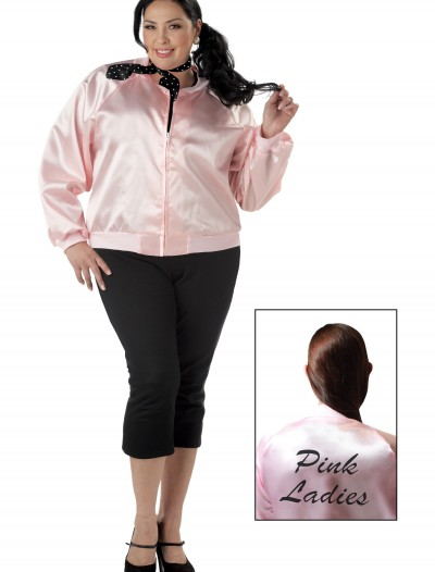 Plus Size Pink Ladies Jacket, halloween costume (Plus Size Pink Ladies Jacket)