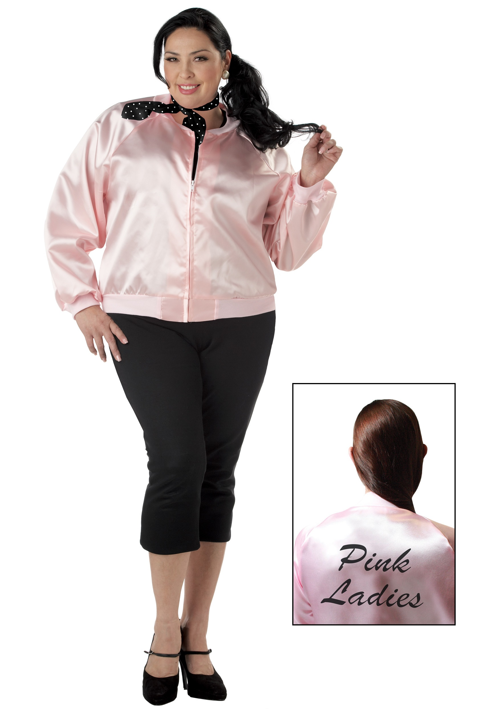 Plus Size Pink Ladies Jacket  sc 1 st  Halloween Costumes : pink ladies costumes  - Germanpascual.Com