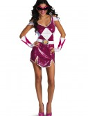 Plus Size Pink Ranger Glam Costume, halloween costume (Plus Size Pink Ranger Glam Costume)