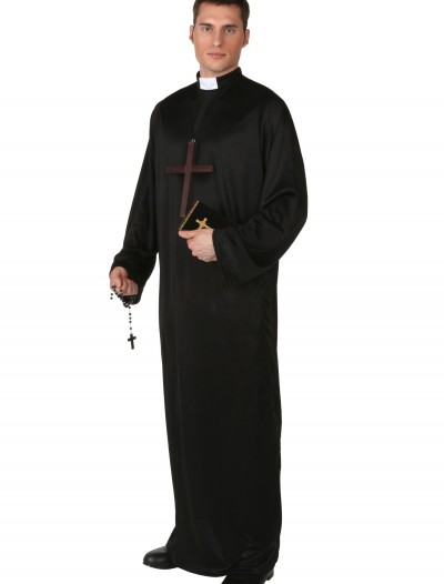 Plus Size Pious Priest Costume, halloween costume (Plus Size Pious Priest Costume)