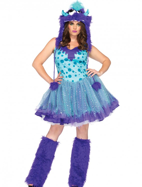 Plus Size Polka Dotty Monster Costume, halloween costume (Plus Size Polka Dotty Monster Costume)