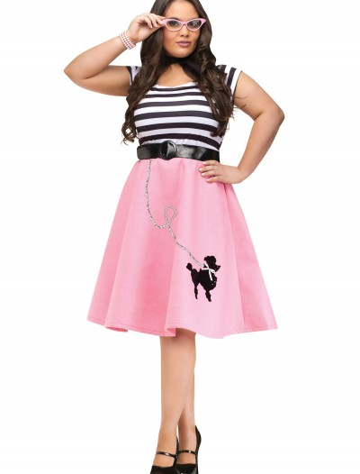 Plus Size Poodle Skirt Dress, halloween costume (Plus Size Poodle Skirt Dress)