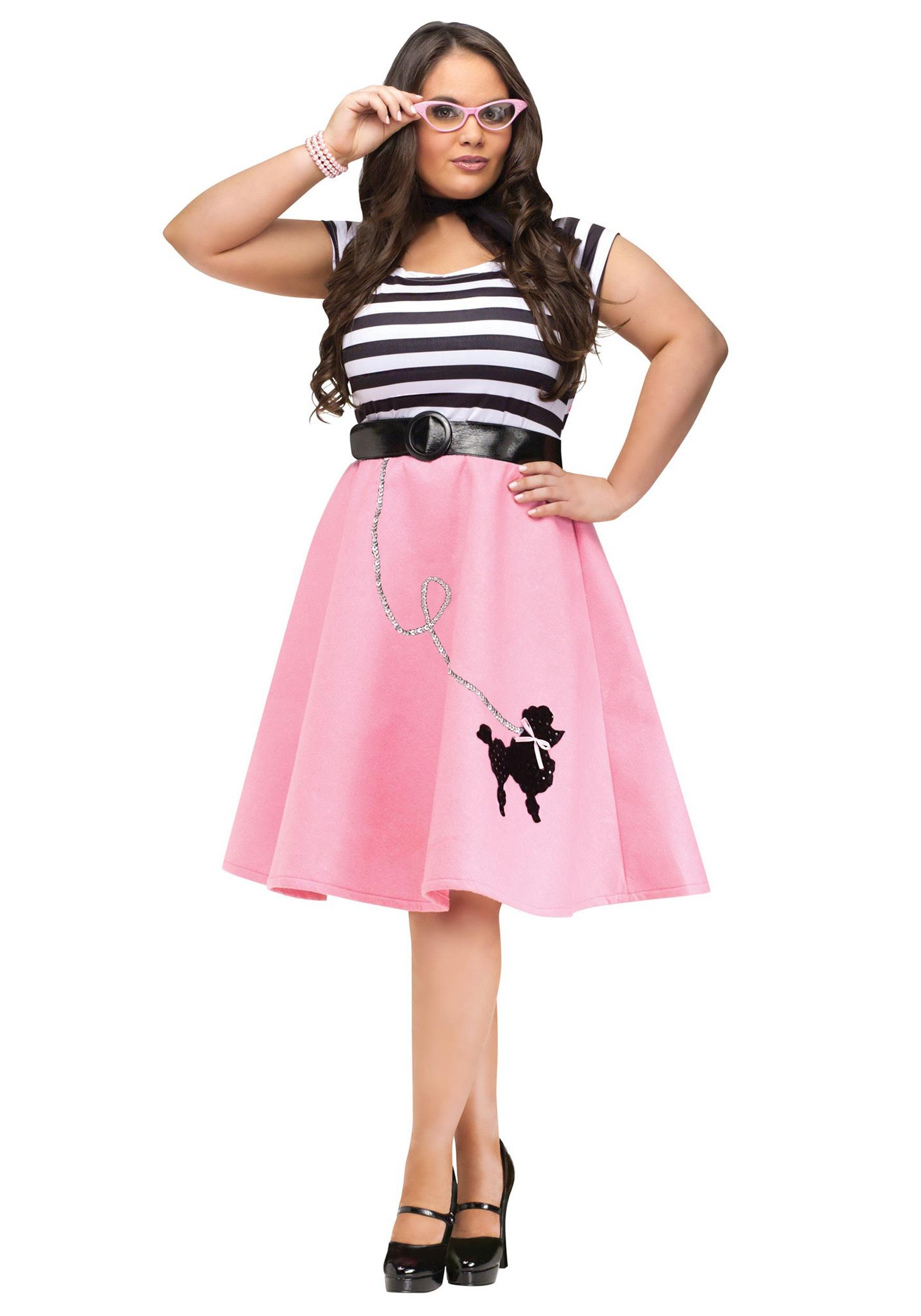 Plus Size Poodle Skirt Dress  sc 1 st  Halloween Costumes & Plus Size Poodle Skirt Dress - Halloween Costumes
