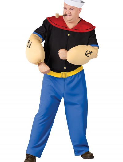 Plus Size Popeye Costume, halloween costume (Plus Size Popeye Costume)