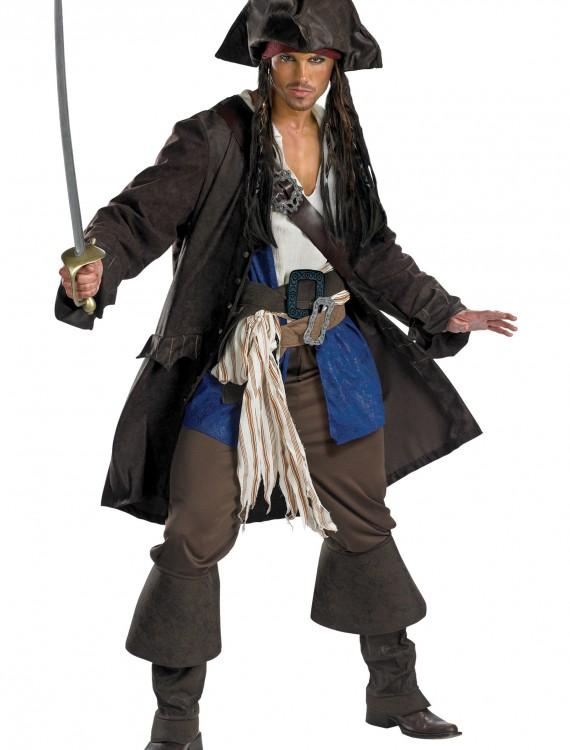 Plus Size Prestige Captain Jack Sparrow Costume, halloween costume (Plus Size Prestige Captain Jack Sparrow Costume)