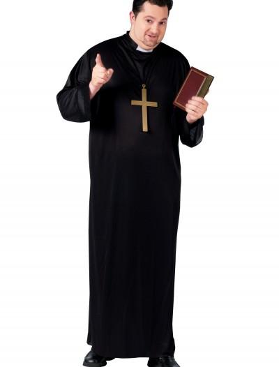 Plus Size Priest Costume, halloween costume (Plus Size Priest Costume)