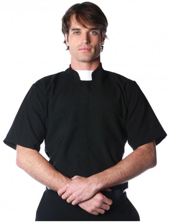 Plus Size Priest Shirt, halloween costume (Plus Size Priest Shirt)