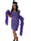 Plus Size Purple Fringe Flapper Dress, halloween costume (Plus Size Purple Fringe Flapper Dress)