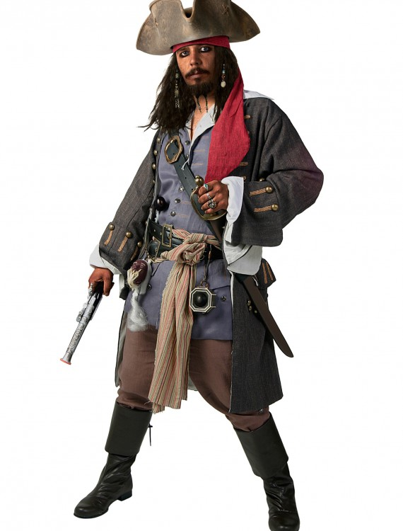 Plus Size Realistic Caribbean Pirate Costume, halloween costume (Plus Size Realistic Caribbean Pirate Costume)
