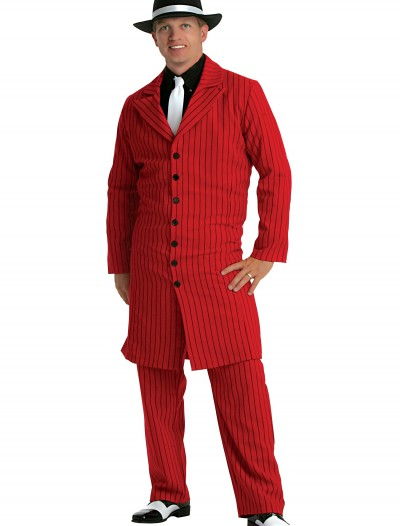 Plus Size Red Gangster Zoot Suit, halloween costume (Plus Size Red Gangster Zoot Suit)