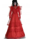 Plus Size Red Gothic Wedding Dress, halloween costume (Plus Size Red Gothic Wedding Dress)