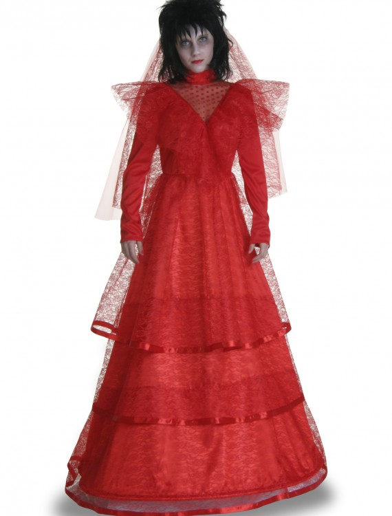 Plus Size Red Gothic Wedding Dress, halloween costume (Plus Size Red Gothic Wedding Dress)