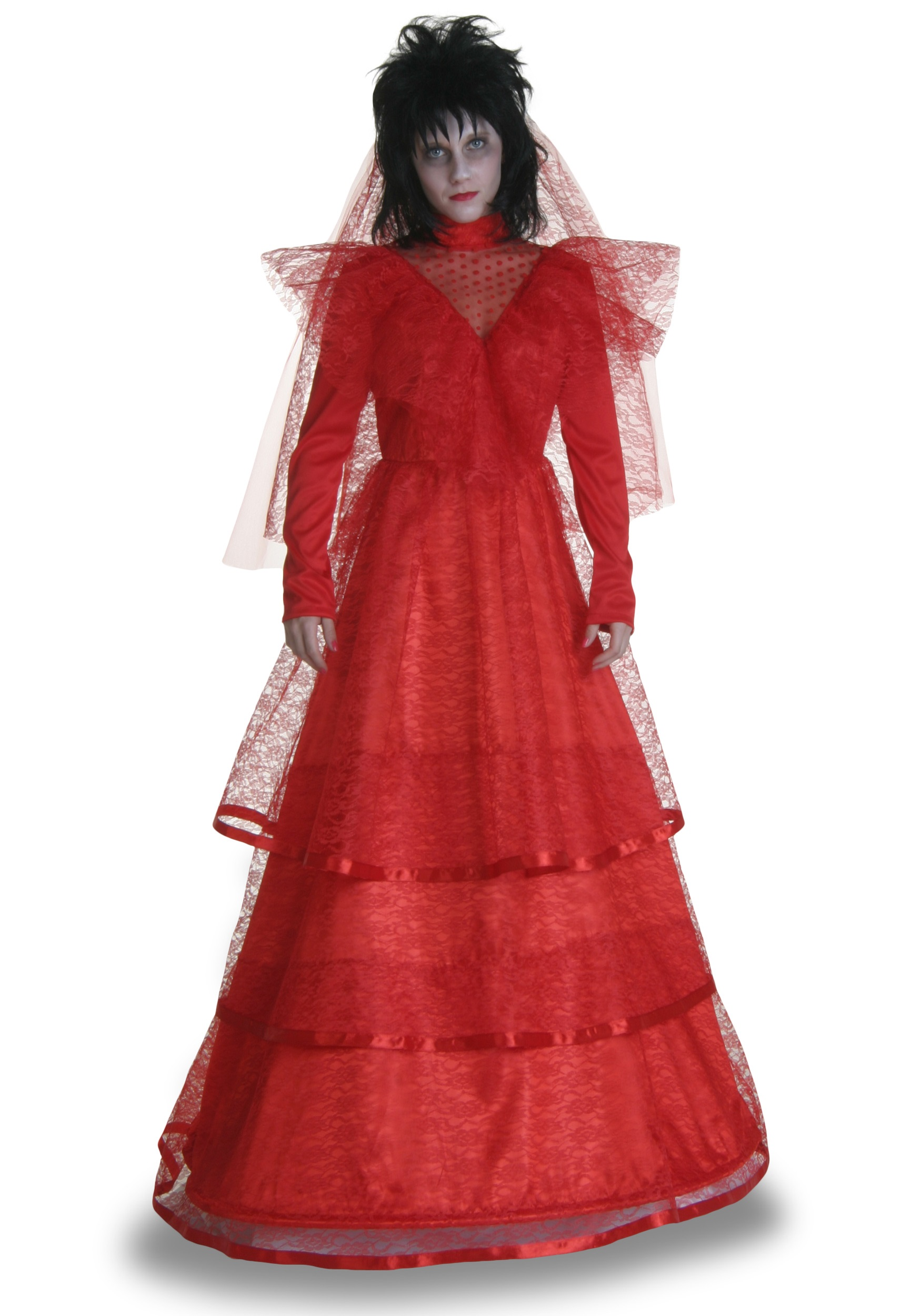 Plus Size Red Gothic Wedding Dress Halloween Costumes