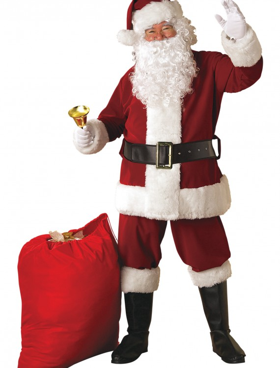 Plus Size Regal Santa Suit, halloween costume (Plus Size Regal Santa Suit)