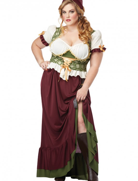 Plus Size Renaissance Wench Costume, halloween costume (Plus Size Renaissance Wench Costume)