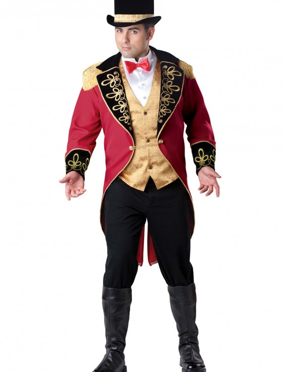 Plus Size Ring Master Costume, halloween costume (Plus Size Ring Master Costume)