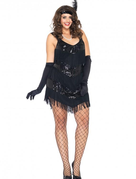 Plus Size Roaring 20s Honey Costume, halloween costume (Plus Size Roaring 20s Honey Costume)