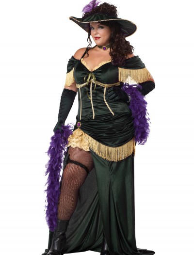 Plus Size Saloon Madame Costume, halloween costume (Plus Size Saloon Madame Costume)