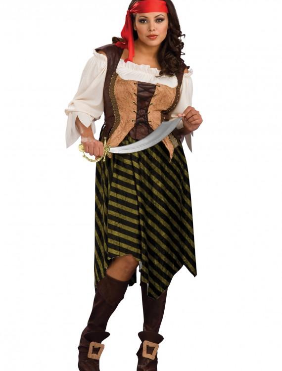 Plus Size Sea Wench Costume, halloween costume (Plus Size Sea Wench Costume)