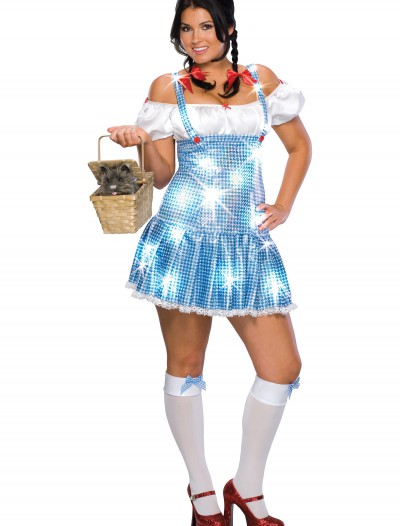 Plus Size Sequin Dorothy Costume, halloween costume (Plus Size Sequin Dorothy Costume)