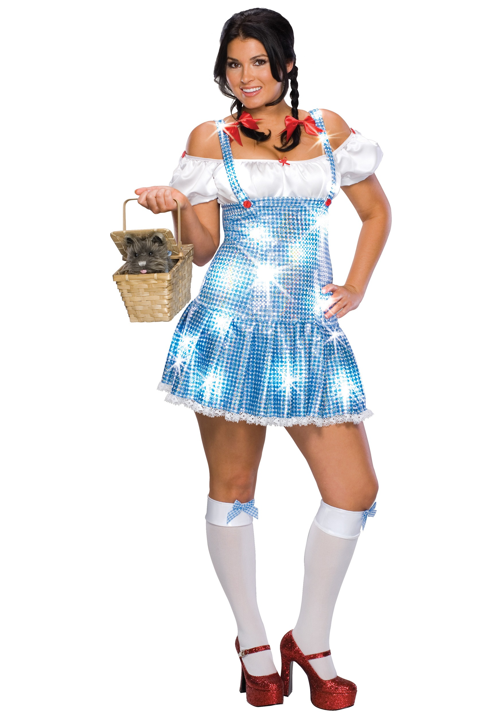 Plus Size Sequin Dorothy Costume  sc 1 st  Halloween Costumes & Plus Size Sequin Dorothy Costume - Halloween Costumes