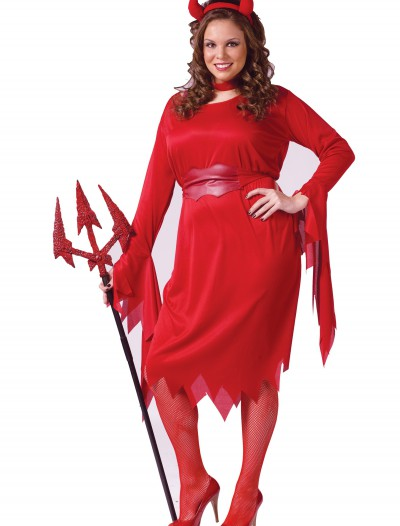 Plus Size Sexy Devil Costume, halloween costume (Plus Size Sexy Devil Costume)