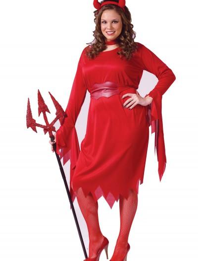 Plus Size Sexy Devil Costume, halloween costume (Plus Size Sexy Devil Costume)