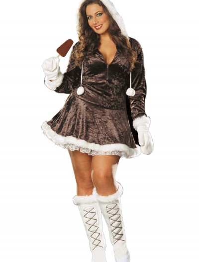 Plus Size Sexy Eskimo Costume, halloween costume (Plus Size Sexy Eskimo Costume)