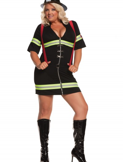 Plus Size Sexy Firegirl Costume, halloween costume (Plus Size Sexy Firegirl Costume)