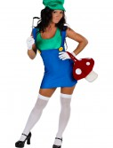 Plus Size Sexy Green Plumber Costume, halloween costume (Plus Size Sexy Green Plumber Costume)