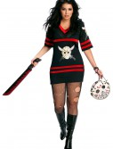 Plus Size Sexy Jason Voorhees Costume, halloween costume (Plus Size Sexy Jason Voorhees Costume)
