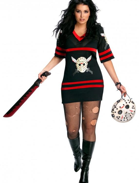 Plus Size Sexy Jason Voorhees Costume, halloween costume (Plus Size Sexy Jason Voorhees Costume)