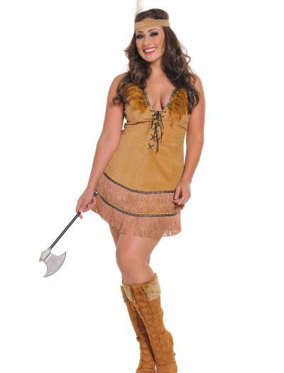 Plus Size Sexy Native American Costume, halloween costume (Plus Size Sexy Native American Costume)