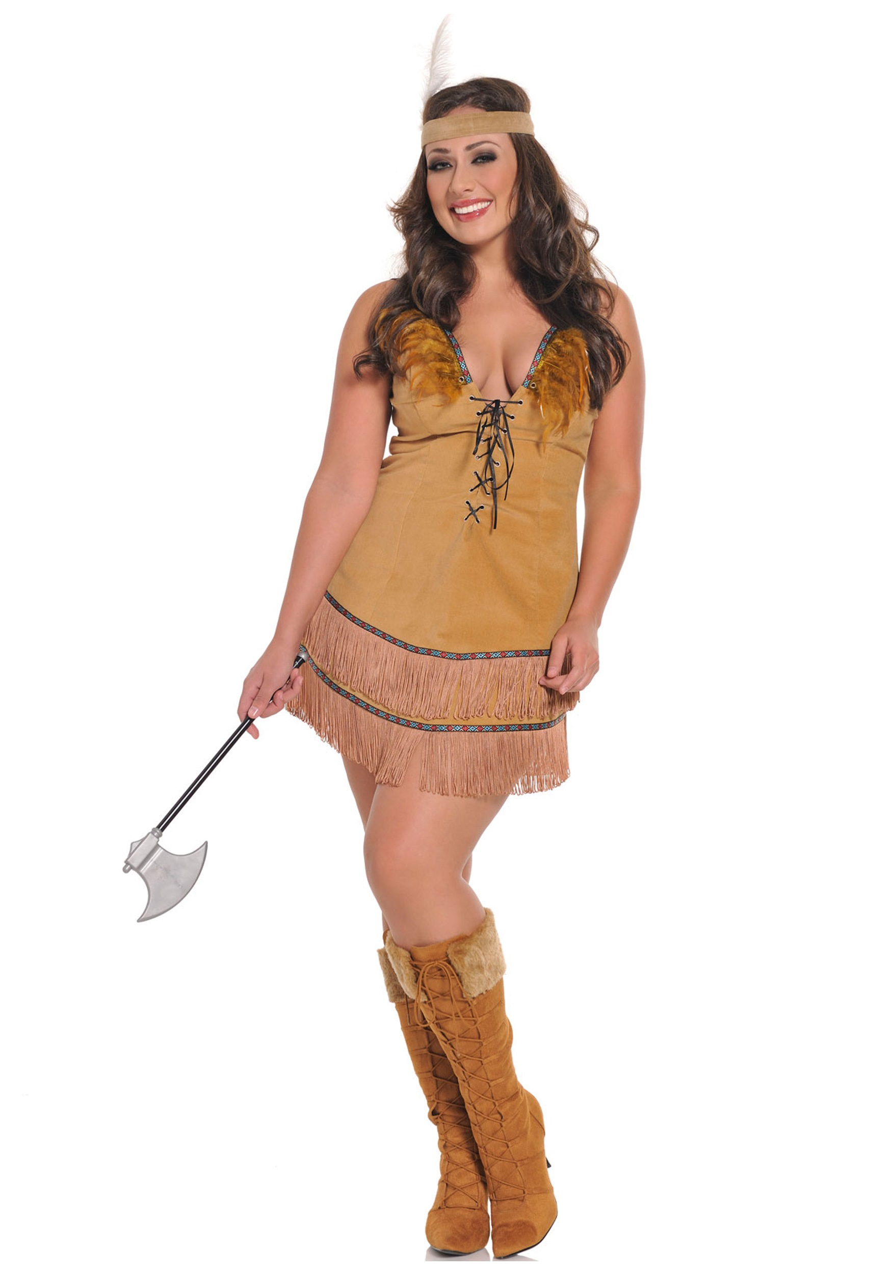 Plus Size Sexy Native American Costume  sc 1 st  Halloween Costumes & Plus Size Sexy Native American Costume - Halloween Costumes