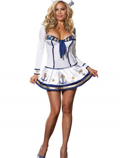 Plus Size Sexy Sailor Costume, halloween costume (Plus Size Sexy Sailor Costume)