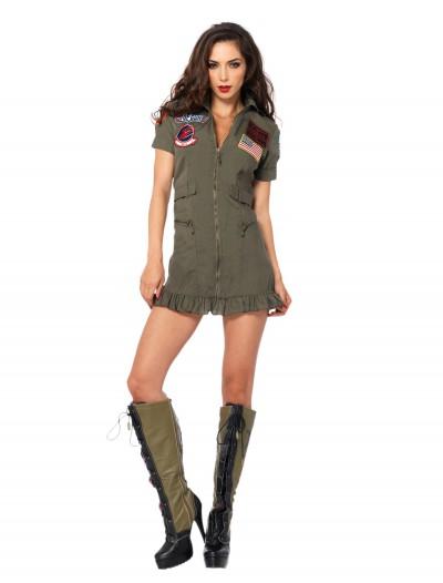 Plus Size Sexy Top Gun Costume, halloween costume (Plus Size Sexy Top Gun Costume)