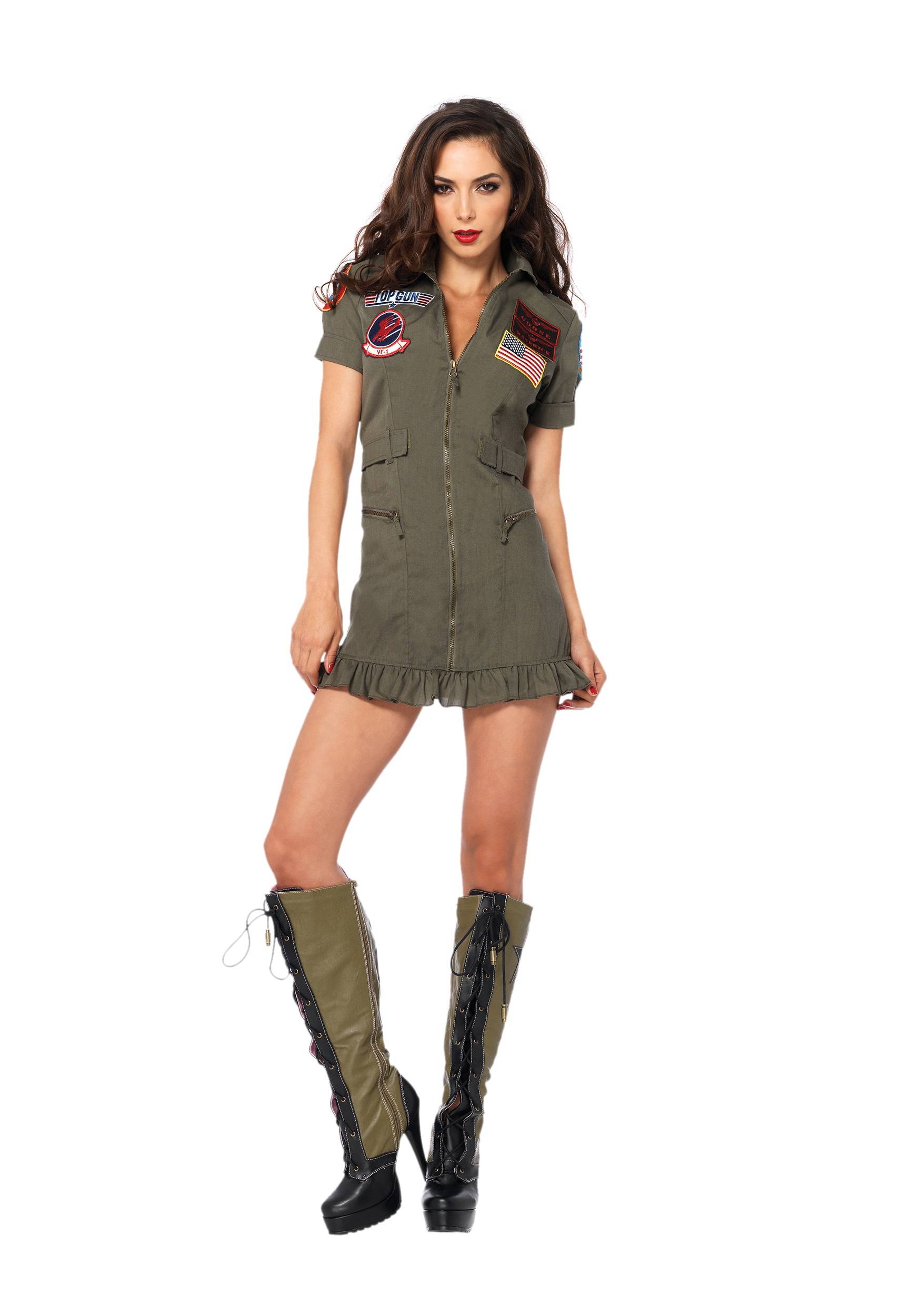 plus size sexy top gun costume