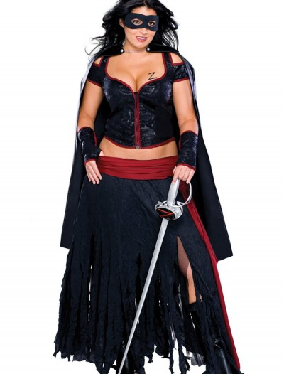 Plus Size Sexy Zorro Costume, halloween costume (Plus Size Sexy Zorro Costume)
