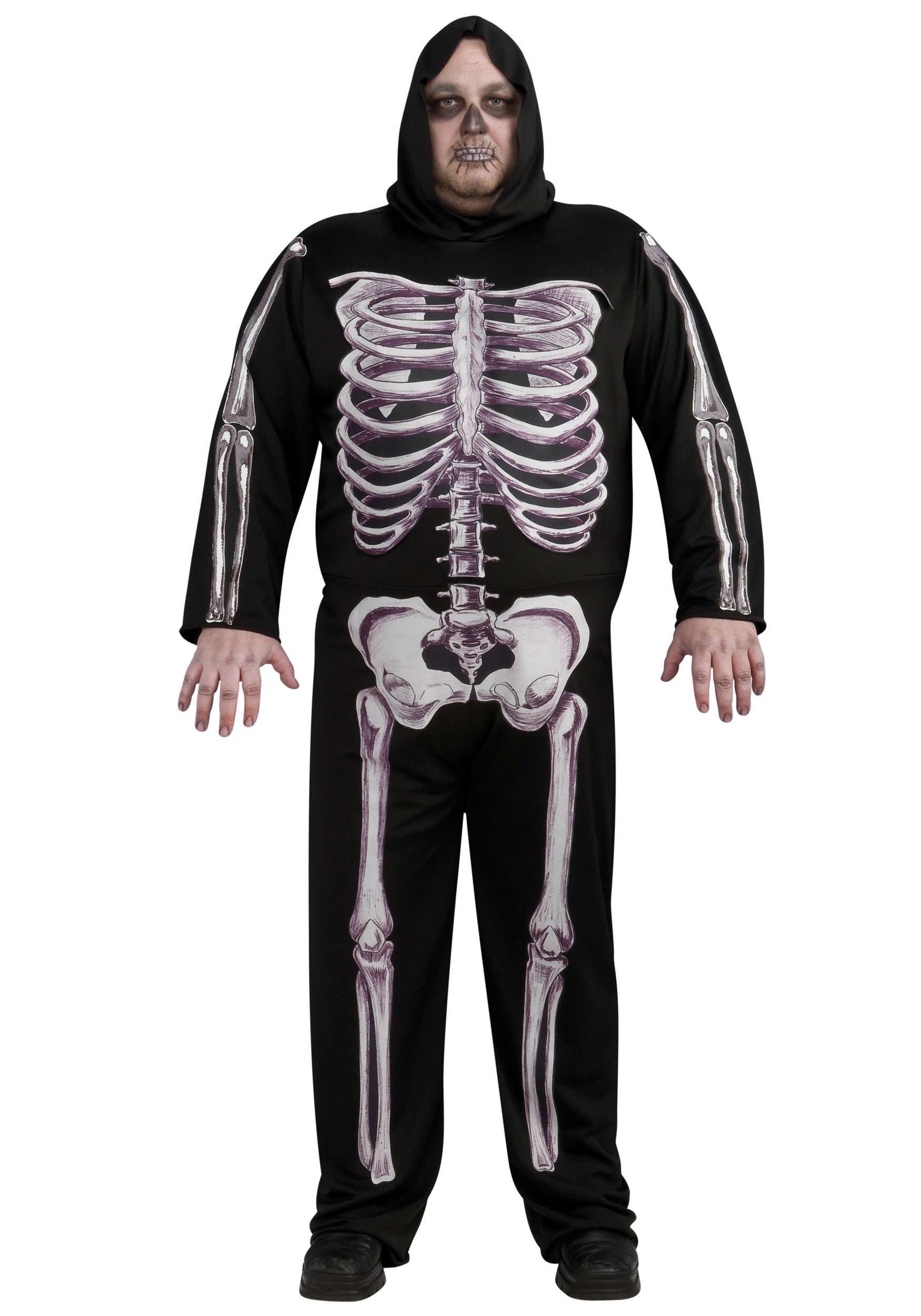 7f5d49e863 Plus Size Skeleton Costume   Skeleton Bodysuit Women - Halloween ...