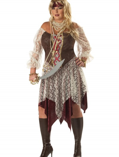 Plus Size South Seas Siren Costume, halloween costume (Plus Size South Seas Siren Costume)