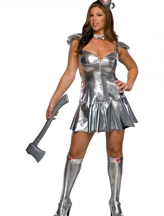 Plus Size Tin Woman Costume, halloween costume (Plus Size Tin Woman Costume)