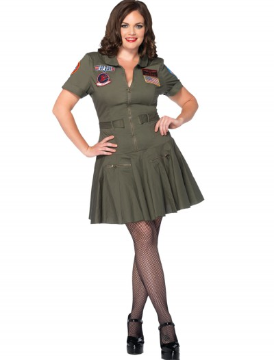 Plus Size Top Gun Flight Dress, halloween costume (Plus Size Top Gun Flight Dress)