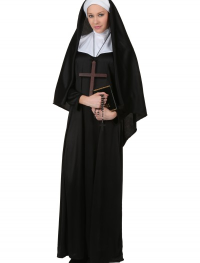 Plus Size Traditional Nun Costume, halloween costume (Plus Size Traditional Nun Costume)