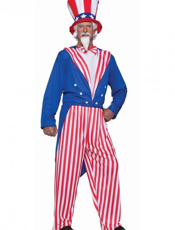 Plus Size Uncle Sam Costume, halloween costume (Plus Size Uncle Sam Costume)