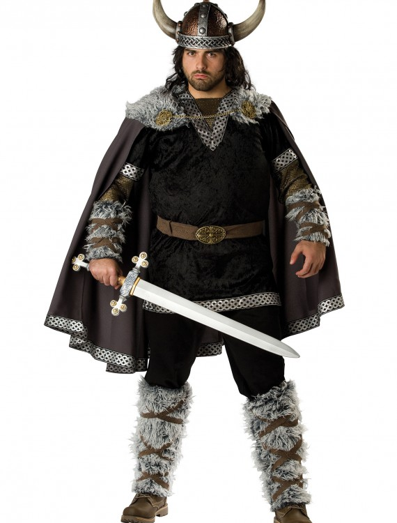 Plus Size Viking Warrior Costume, halloween costume (Plus Size Viking Warrior Costume)